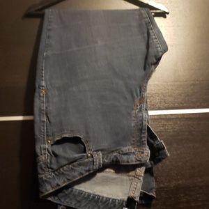Medium wash, boot cut jeans